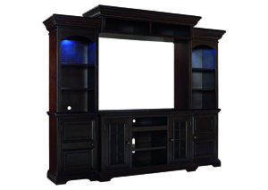 Willenburg Dark Brown Entertainment Center