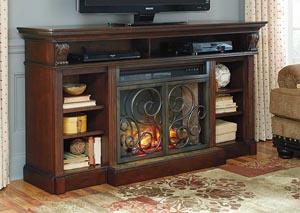 Alymere Extra Large TV Stand w/ LED Fireplace Insert