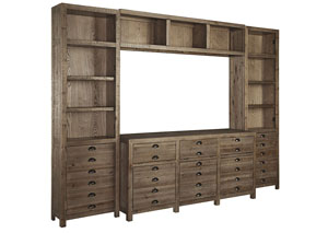 Keeblen Grayish Brown Extra Large Entertainment Center,Signature Design by Ashley