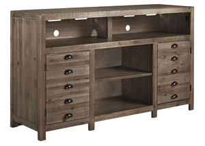 Keeblen Grayish Brown TV Stand w/Fireplace Option,Signature Design by Ashley