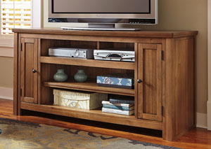 Macibery Grayish Brown Large TV Stand,Signature Design by Ashley