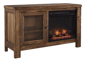 Tamonie Rustic Brown TV Stand w/Fireplace,Signature Design by Ashley