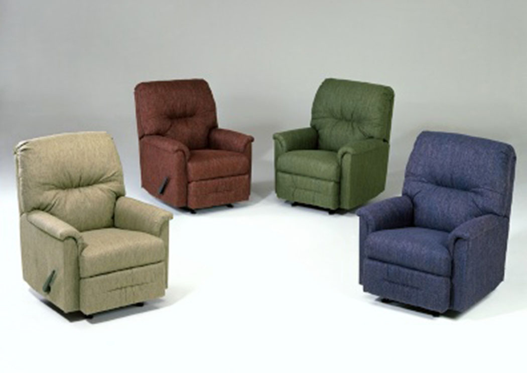 Radar Green Rocker Recliner,Tonoco