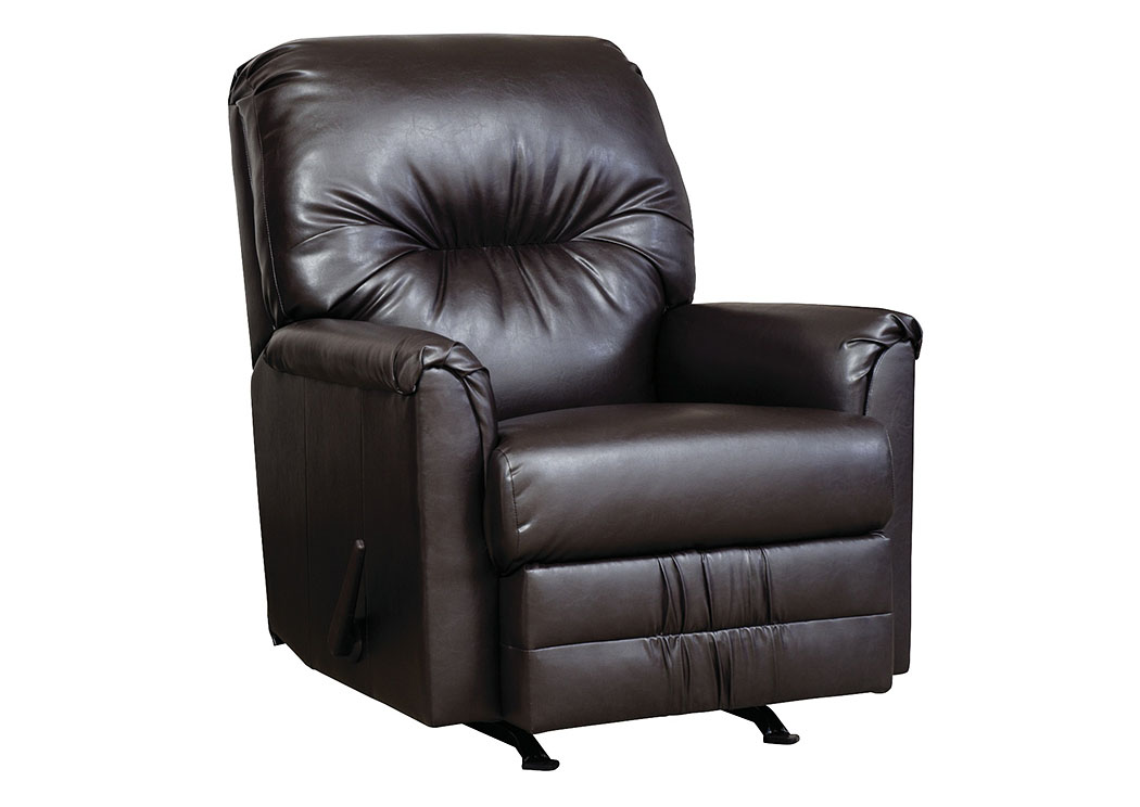 San Marino Chocolate Rocker Recliner,Tonoco