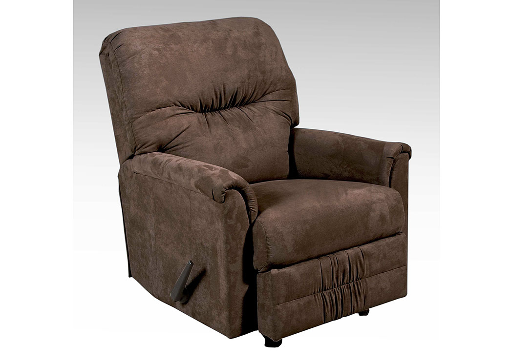 Sienna Chocolate Rocker Recliner,Tonoco
