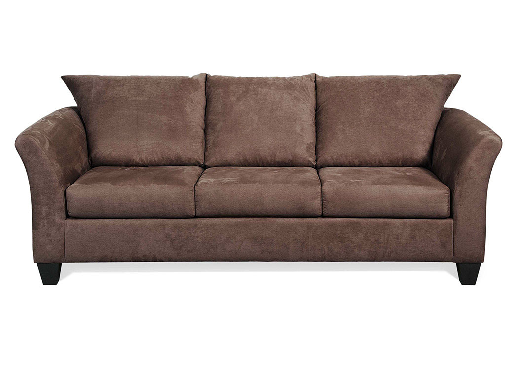 Sienna Chocolate Stationary Sofa,Tonoco