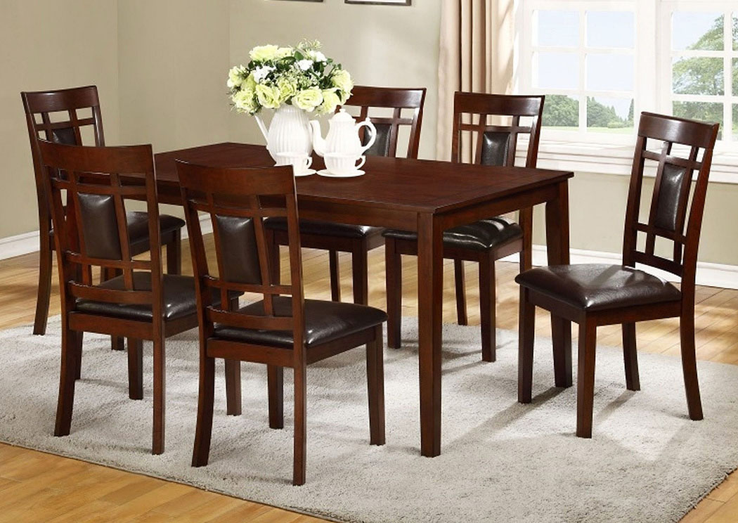 James Espresso Dining Table w/ 4 Side Chairs,Tonoco