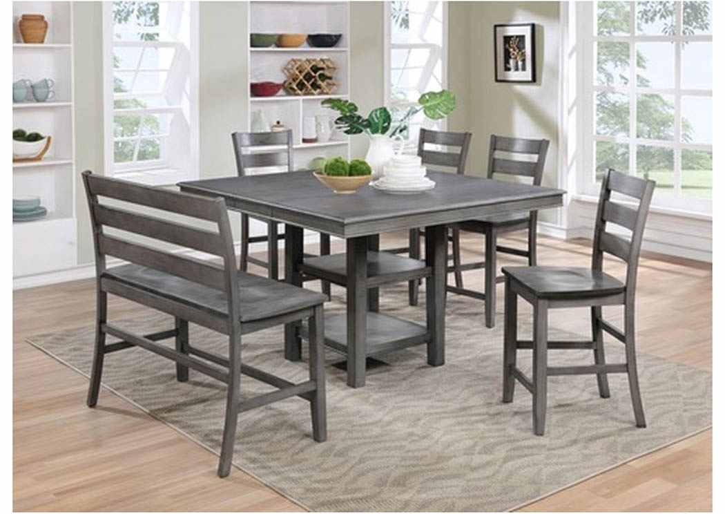 Atlantic bedding and furniture greyson 5 piece pub table set for 5 piece dining room set with bench