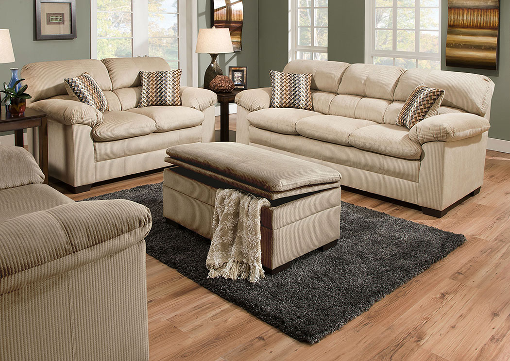Lakewood Cappuccino / Plaza Driftwood Sofa,Atlantic Bedding & Furniture
