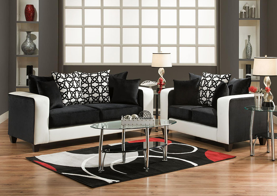 Implosion Black Sofa,Tonoco