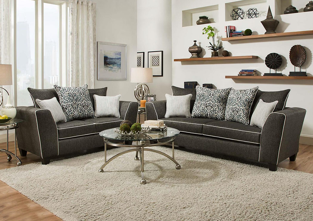 Atlantic Bedding And Furniture Richmond 4160 Stoked Ash Sofa