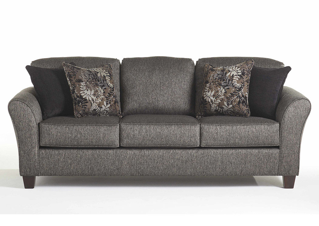 Stoked Ashes Candella Pewter Onyx Stationary Sofa,Tonoco