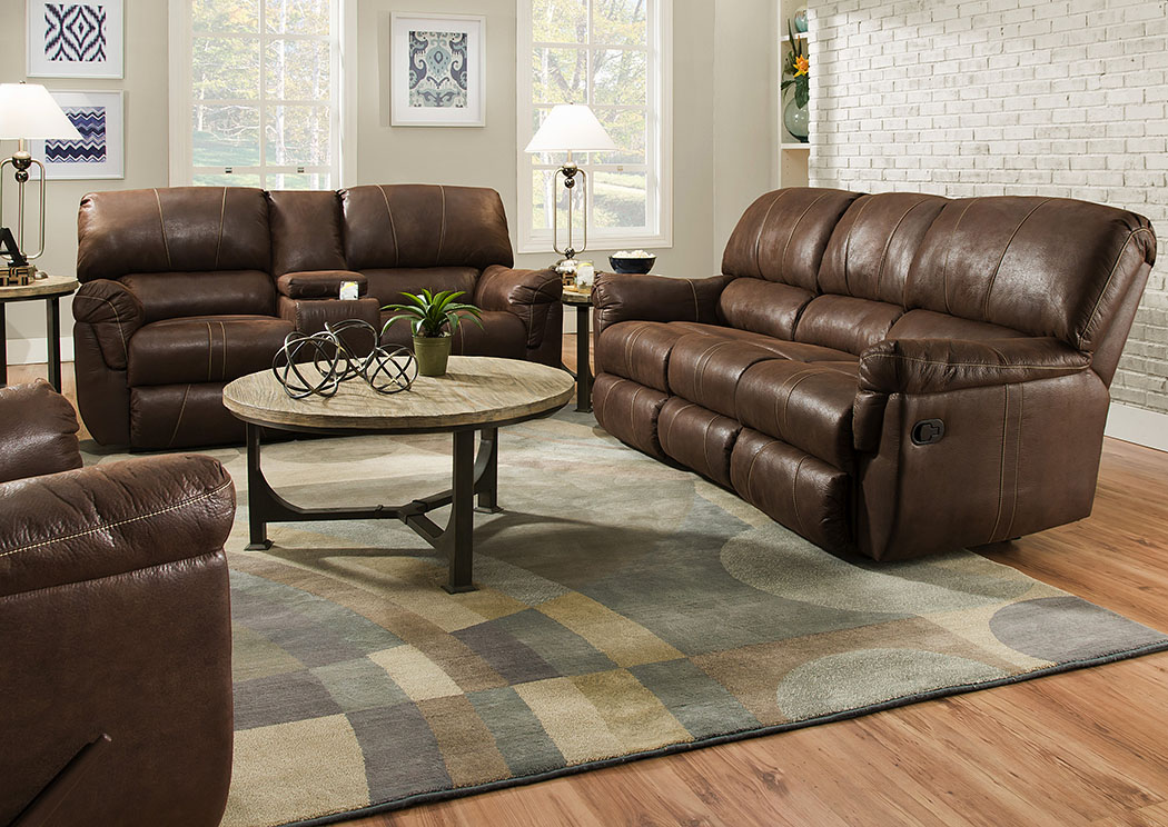Renegade Mocha Double Motion Console Loveseat,Atlantic Bedding & Furniture