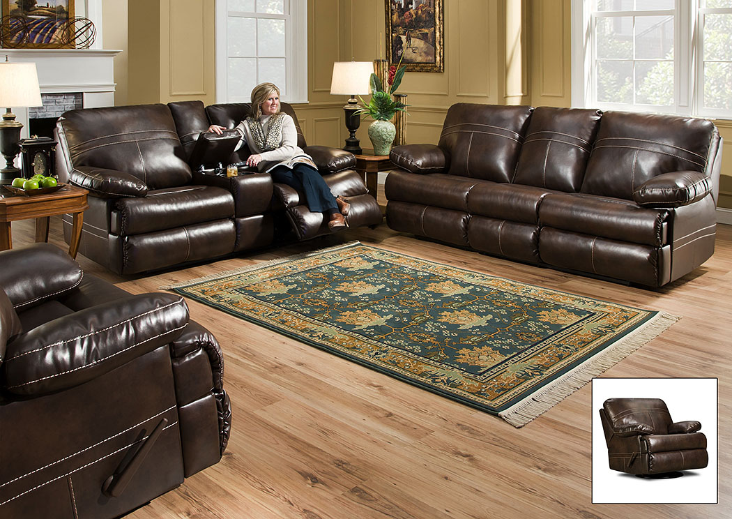 Miracle Saddle Bonded Leather Queen Sleeper Sofa,Atlantic Bedding & Furniture