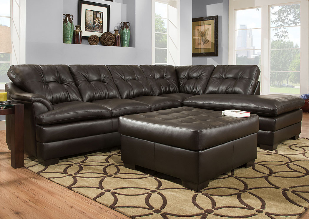 Atlantic Bedding And Furniture Fayetteville Apollo Espresso Sectional W Left Facing Chaise