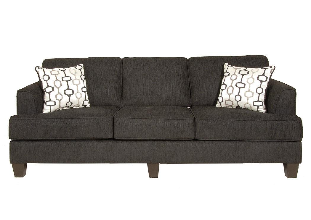 Atlantic Bedding And Furniture Soprano Ebony Handcuff Trance Stationary Sofa