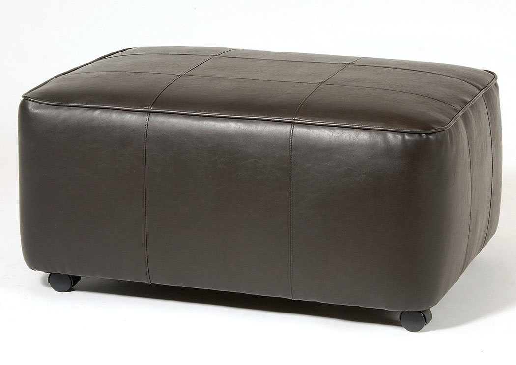 San Marino Chocolate Rectangular Ottoman,Atlantic Bedding & Furniture