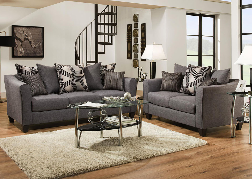 Living Room Furniture Jacksonville Nc atlantic bedding and furniture - jacksonville nc jitterbug gray sofa