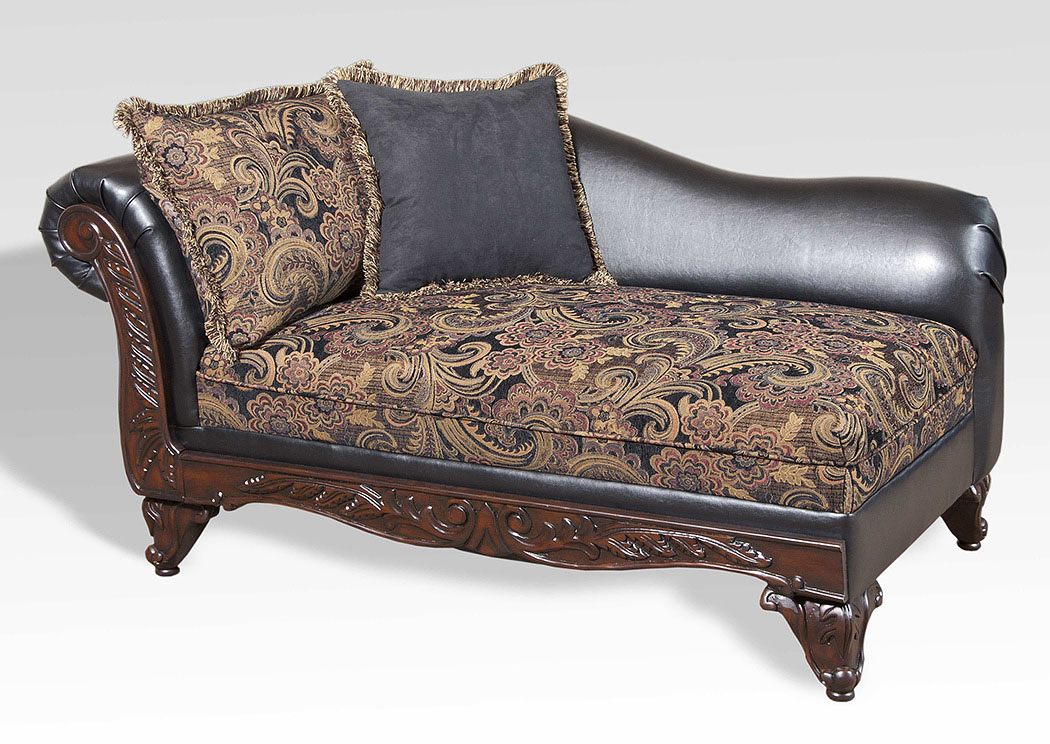 San Marino Ebony Chaise,Atlantic Bedding & Furniture