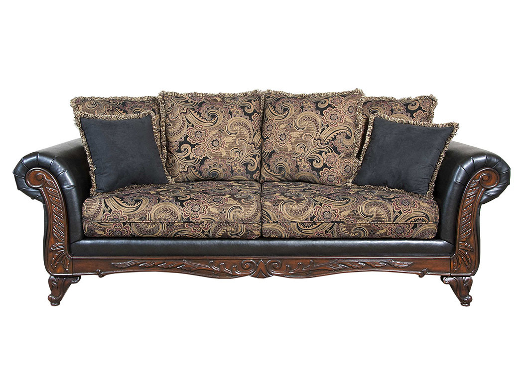 Atlantic Bedding And Furniture San Marino Ebony Sofa