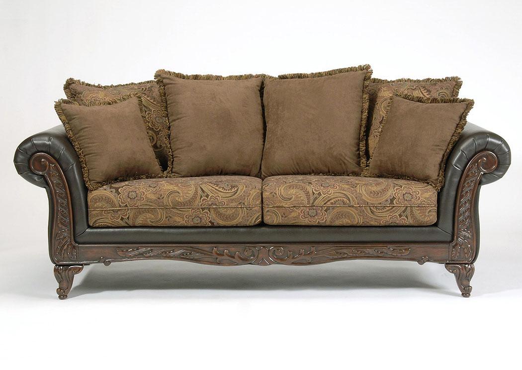 Atlantic Bedding And Furniture San Marino Chocolate Sofa