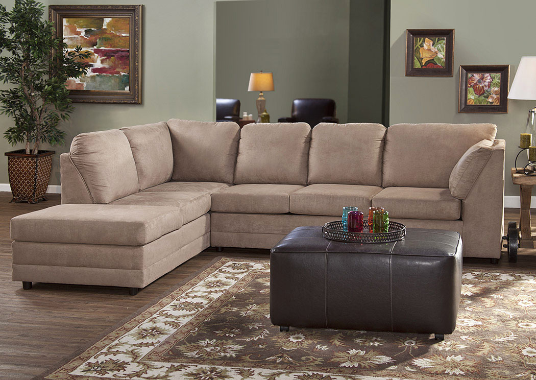 Sienna Mocha Sectional,Atlantic Bedding & Furniture