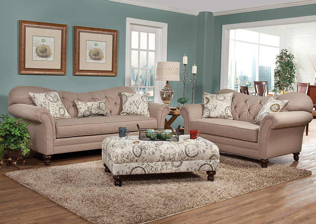 Abington Safari Timeless Patina Sofa and Loveseat,Serta Hughes