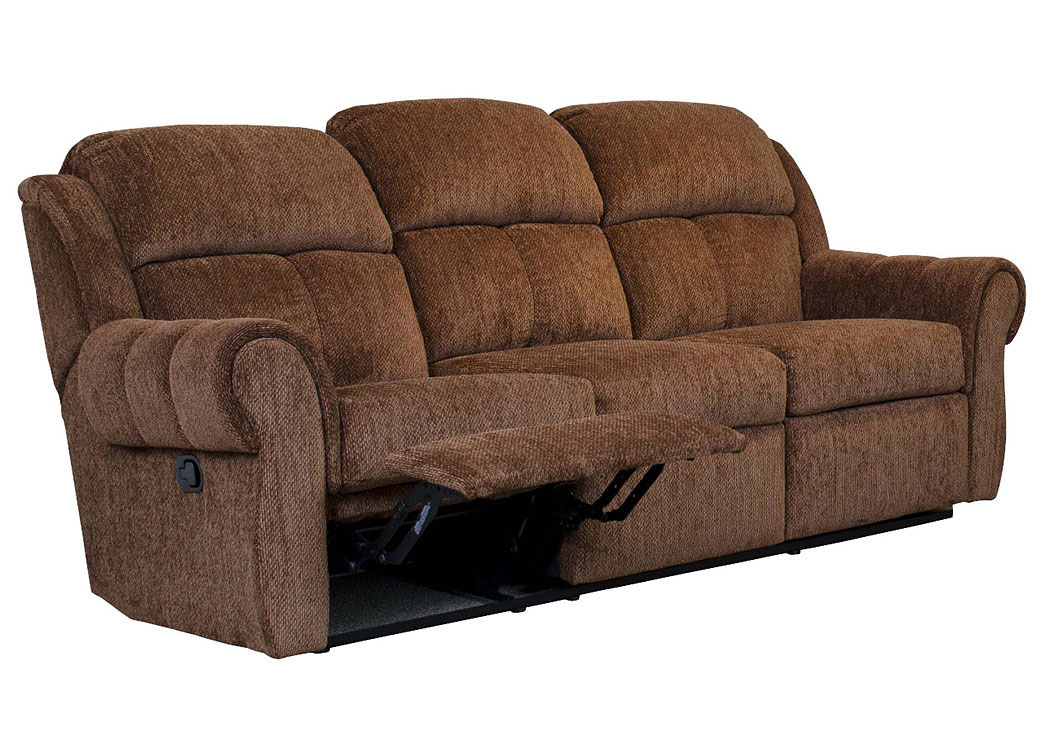 Santino Mocha Reclining Sofa (Shown in Cinnamon),Atlantic Bedding & Furniture