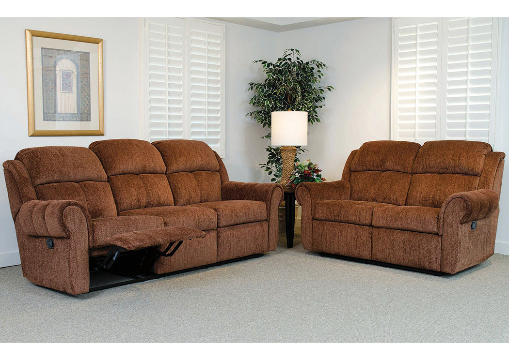 Atlantic Bedding And Furniture Fayetteville Santino Mocha Reclining Sofa And Loveseat Shown