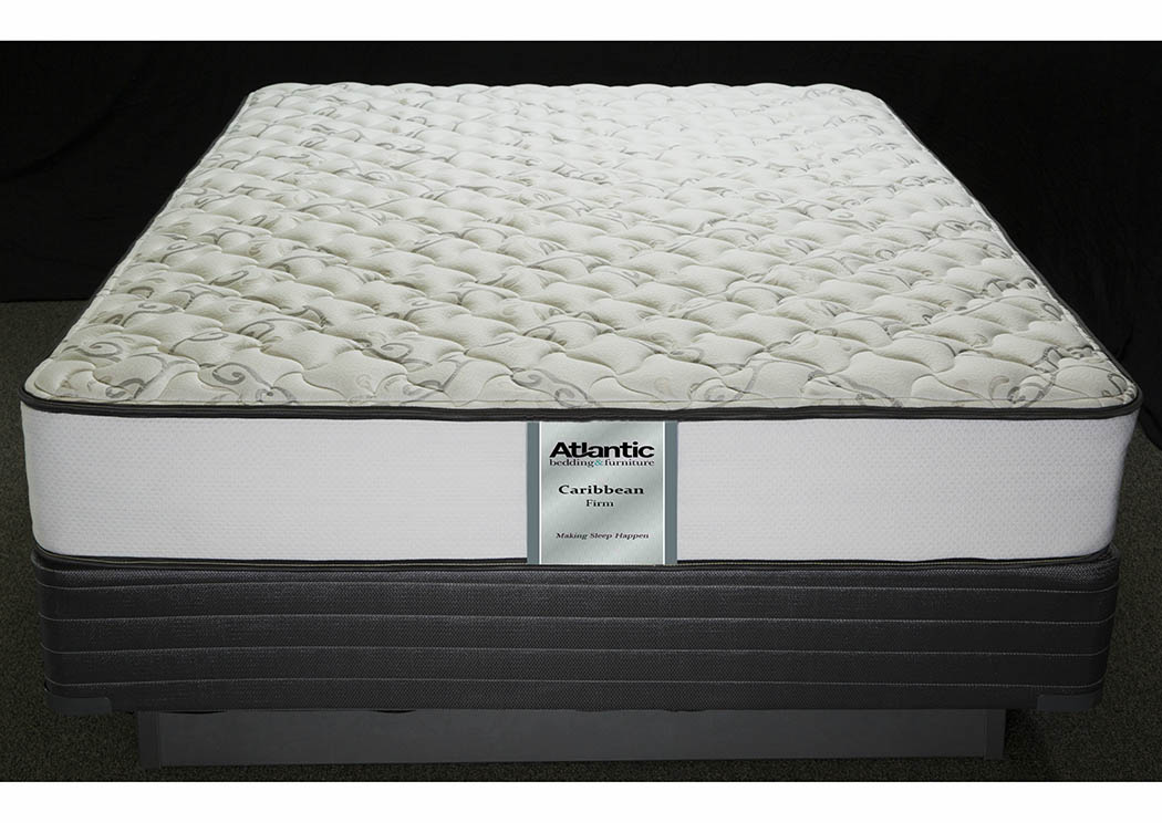 Caribbean Firm Queen Foam Encased/Quilt. Gel Mattress,Atlantic Bedding & Furniture