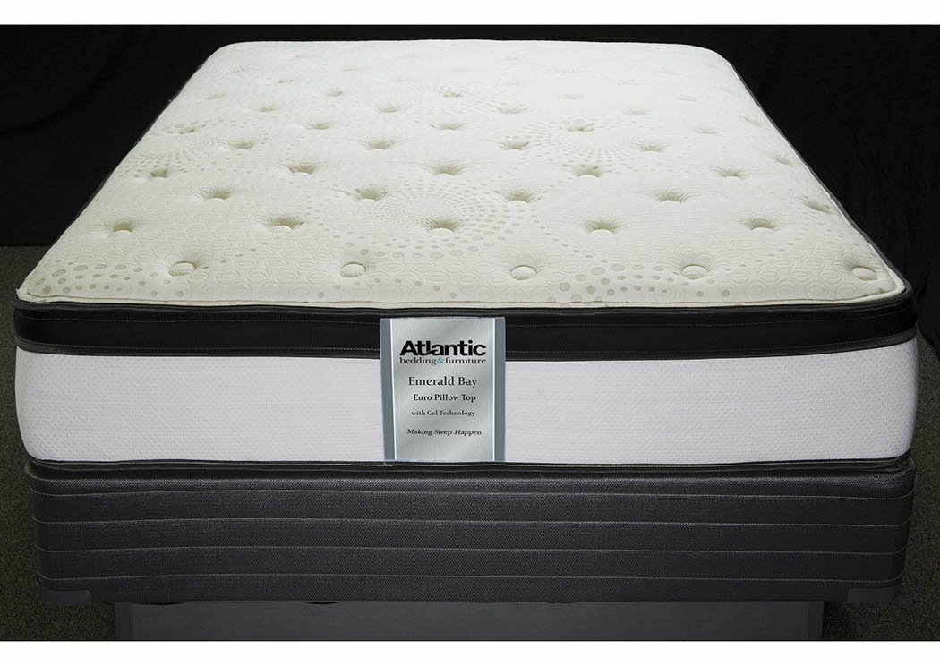 Emerald Bay Full Quant Ind Coil/Quilt Gel Mattress,Atlantic Bedding