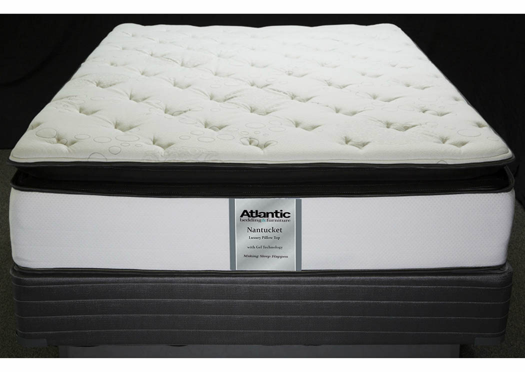 Nantucket King Quant Ind Coil/Quilt Gel Mattress,Atlantic Bedding & Furniture