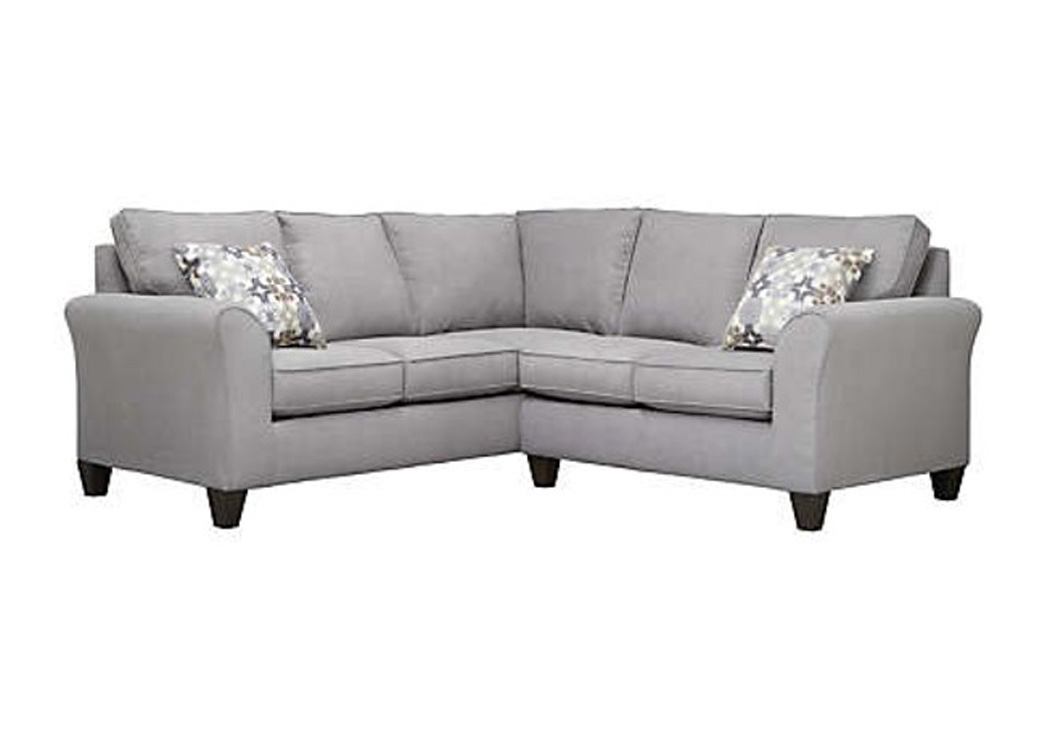 Addison Grey 2-Piece Sectional,Atlantic Bedding & Furniture