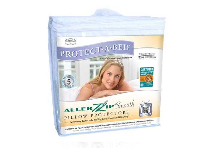 AllerZip Queen Smooth Pillow Protector Encasement ,Atlantic Bedding & Furniture