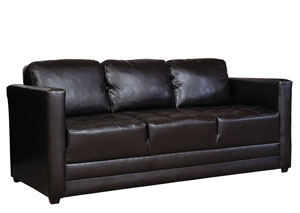 San Marino Chocolate Stationary Sofa
