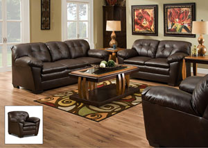 1200 Cowgirl Brown Loveseat