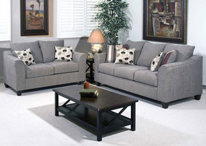 Flyer Metal Euphoria Roxanne Rio Stationary Sofa and Loveseat