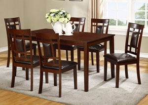 James Espresso Dining Table w/ 4 Side Chairs