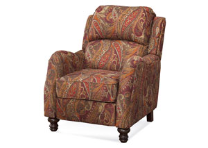 Danielle Cinnamon Push Back Recliner (Shown in Cayenne)