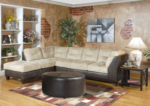 San Marino Chocolate Padded Saddle Sectional