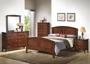 Daniels Whiskey Queen Panel Bed w/ Dresser and Mirror