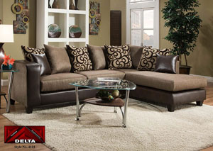 Object Espresso Sectional w/ Right Facing Chaise