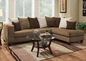 4125 Perth Leather Right Facing Chaise Sectional