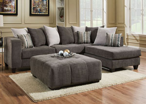 4125 Heavenly Mocha Right Facing Chaise Sectional