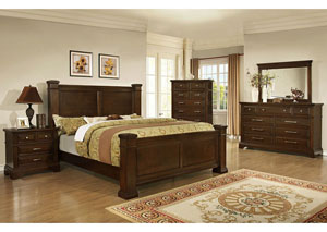 Perry Merlot Queen Poster Bed