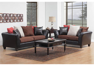 Jefferson Chocolate/Sierra Chocolate Sofa