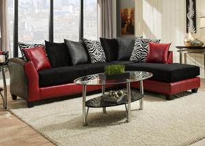 4174 Jefferson-Implosion Black Right Facing Chaise Sectional