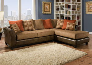 McLarin Saddle/Council Mocha Sectional w/ Right Facing Chaise