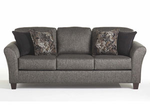 Stoked Ashes Candella Pewter Onyx Stationary Sofa