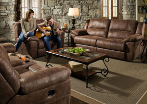 Phoenix Mocha Double Motion Sofa and Loveseat